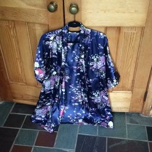 Bridal party silky robe
